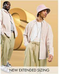 ASOS - Вельветовая Oversized-рубашка Пастельно-розового Цвета В Стиле 90-х - Lyst