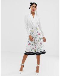UNIQUE21 Floral Culotte Trouser - Multicolour