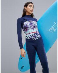 Roxy Pop Surf Full Zip Gbs Surfsuit - Blue