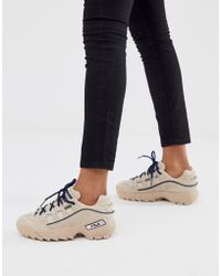 Fila Hometown Luxe Cream Trainers - Natural