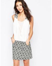 See U Soon - Shift Dress With Jacquard Skirt - Lyst