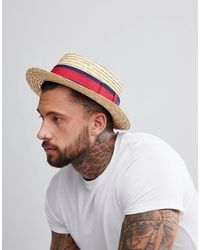 ASOS Boater Hat - Natural