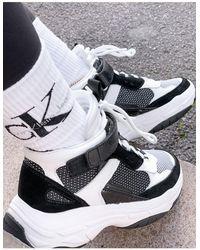Calvin Klein Черно-белые Кроссовки Jeans Missie-черный