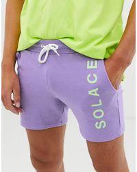 ASOS Short ajusté imprimé sur la jambe - Lilas - Violet
