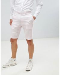 French Connection - Wedding Linen Slim Fit Shorts - Lyst