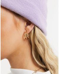 Accessorize Triple Hoop Earrings - Metallic