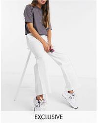 Collusion Pantaloni sartoriali bianchi con fondo ampio - Bianco
