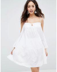 Max C - Cold Shoulder Mini Beach Dress - Lyst