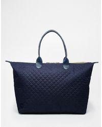 Mi-Pac - Weekender Bag In Quilted Navy - Lyst