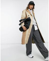 Vero Moda Trench-coat long à empiècements - Beige - Neutre