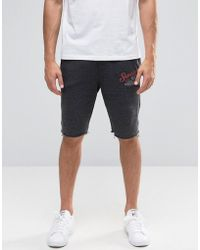 Blend Raw Hem Sweat Shorts In Grey