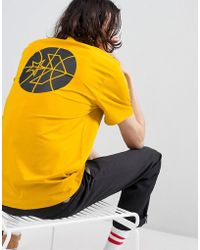 Converse - Cons Court Tee In Yellow 10005691-a03 - Lyst
