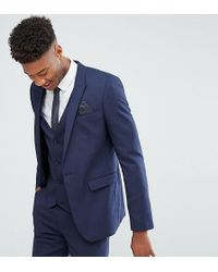 ASOS - Tall Skinny Suit Jacket In Navy - Lyst