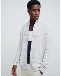 New Look - Cardigan In Gray - Lyst
