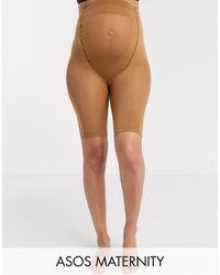 ASOS ASOS DESIGN Maternity – Nicht scheuernde Shorts - Natur