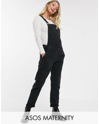 ASOS Asos Design Maternity Denim Dungaree - Black