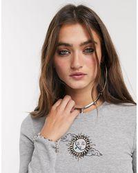 Bershka Camiseta gris