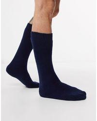 Barbour Wellington Knee High Socks - Blue