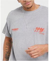 """New Look - Серая Oversized-футболка С Принтом На Спине """"event Horizon"""" -серый - Lyst"""