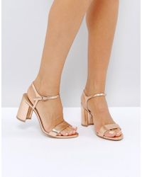 ASOS - Hallie Barely There Heeled Sandals - Lyst