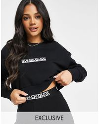 Napapijri Box Cropped Sweatshirt - Black