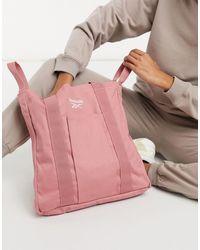 Reebok Песочно-розовая Сумка-тоут С Логотипом -розовый Цвет