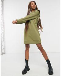 Pieces Платье-свитшот Цвета Хаки С Декоративной Деталью На Плечах -зеленый Цвет