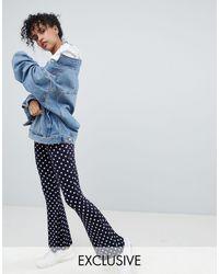 Daisy Street Flare Trousers - Blue