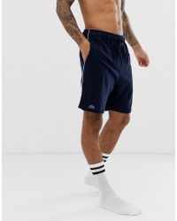 Lacoste Short confort en tissu éponge - Bleu marine