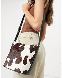 Reiss Hudson - Mini sac bandoulière - Noir et blanc - Multicolore