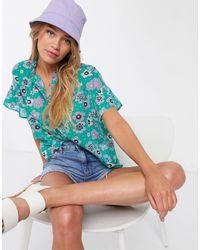 M.i.h Jeans MiH - Blouse à fleurs - Vert