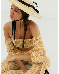 Capulet Jodie Cropped Check Blouse - Yellow