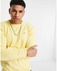 GANT Jersey amarillo azufre jaspeado