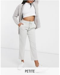 River Island Tailored Crepe jogger Pants - Gray