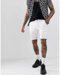 ASOS Super Skinny Cargo Shorts - White