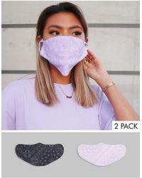 ASOS Confezione unisex da 5 mascherine con fascette e nasello regolabili con stampe effetto bandana - Multicolore