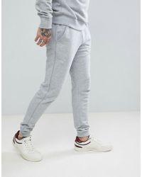 Farah - Shalden Slim Fit Cuffed Sweat Joggers In Grey - Lyst