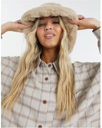ASOS Faux Fur Bucket Hat - Multicolour