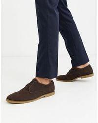 TOPMAN Suede Derby Shoes - Brown