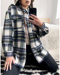 Noisy May Куртка-рубашка В Серую И Синюю Клетку -многоцветный