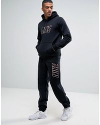 Nike Tracksuit Set With Large Logo In Black 804306-010