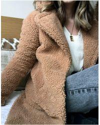 Abercrombie & Fitch Светло-коричневая Шуба Из Искусственного Меха -коричневый