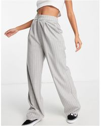 Stradivarius Wide Leg Relaxed Dad Trousers Co-ord - Grey