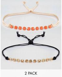 Krystal Pack Of 2 Swarovski Crystal Choker Necklaces - Multicolor