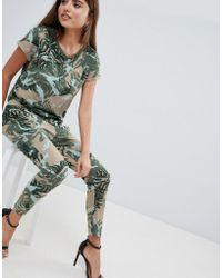 G-Star RAW - Printed Jumpsuit - Lyst