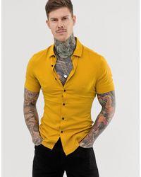 ASOS Aansluitend Overhemd Van Viscose - Geel