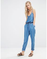 Pimkie - Chambray Jumpsuit - Lyst