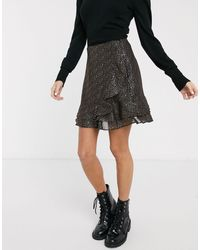 Oasis Skirt With Metallic Spot Detail - Black