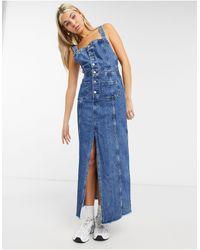 Pepe Jeans Lottie Button Down Denim Dress - Blue