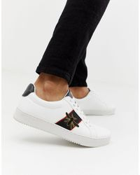 River Island Sneakers With Bee Embroidery - White